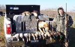 Texas duck hunting with three limits of ducks
